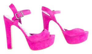 Brash Adjustable Strap Summer Platform Open Toe Pink Sandals
