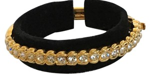 Nolan Miller Nolan Miller glamour gold tone hinged crystal bangle bracelet new