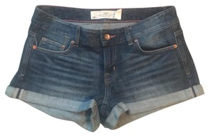 H&M Cuffed Shorts Blue Denim