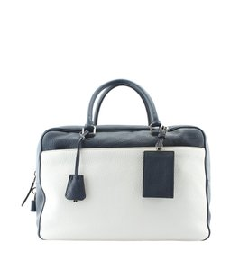 Prada Leather Satchel in Blue,White