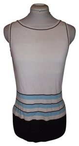 GRACE DANEL LEWIS Cotton Scalloped Sleeveless Casual Top White