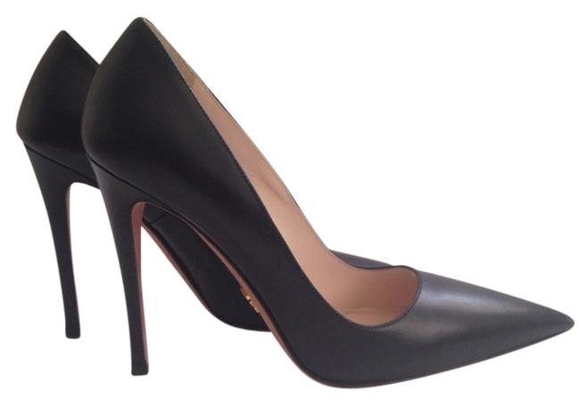 Item - Black Leather High-heel Pointy Toe Pumps Size US 6 Narrow (Aa, N)