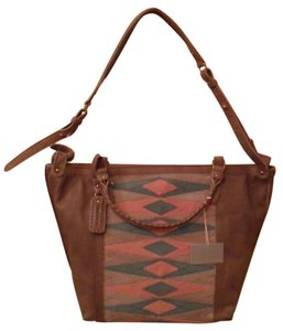 Isabella Fiore Adele Leather Tote in Brown