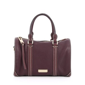 Burberry Leather Satchel in Purple