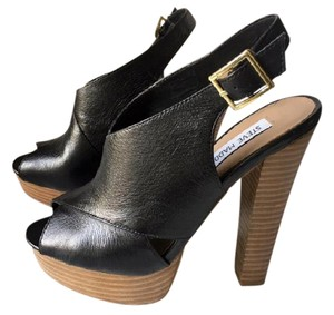 Steve Madden Sexy Heels Leather Slingback black Platforms
