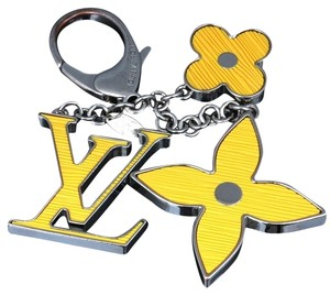 Louis Vuitton Louis Vuitton Bijoux Sac Fleur Epi Monogram Yellow Bag Purse Charm.