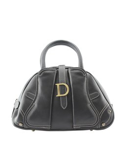 Dior Leather Christian Satchel in Brown