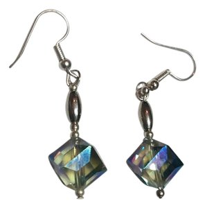 Other New Handmade Square Crystal Silver Tone Earrings J3253