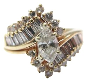 Other Fine Marquise Engagement Diamond Ring Yellow Gold 1.38CT
