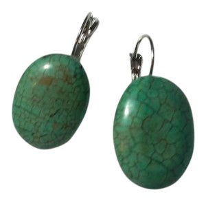 Other New Silver Tone Turquoise French Hook Earrings Handmade J3260
