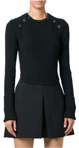 Isabel Marant Buttons Ribbed Cropped Merino Huston Sweater