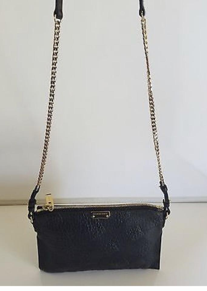 f92043aabbcd Burberry  peytone  Grain Leather Embossed Check Black Cross Body Bag ...