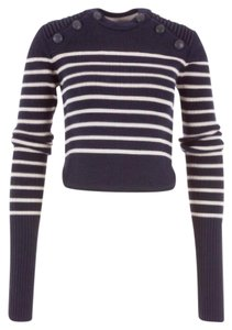 Isabel Marant Striped Cropped Merino Sweater