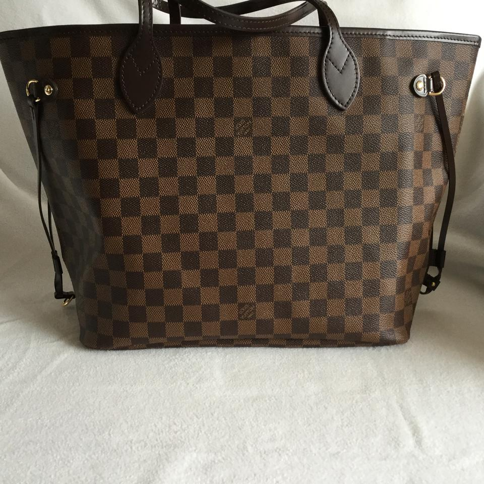 Louis Vuitton Neverfull Mm Lining Hw Damier Ebene with Rose Ballerine and  Gold Hardware Coated Canvas Leather Handles Ties On The Side Trim Around  Top
