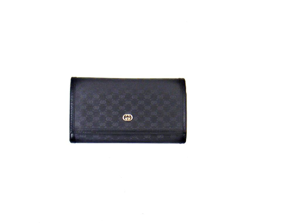c4fa0f6bb909 Gucci Vintage Guccissima Canvas Leather Clutch Long Wallet Italy Image 0 ...