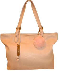 Cole Haan Refurbished Pink Leather Extra-large Tote in Light Pink