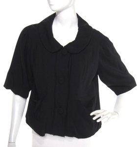 Marc by Marc Jacobs Bubble Wool Peter Pan Collar Light Short Sleeve Black Jacket