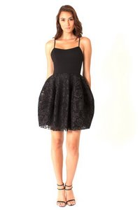 Black Halo Fitted Bodice Dress
