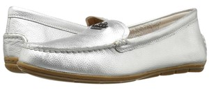 Coach Espadrille Chalk Loafer Amber Silver Flats