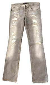 Just Cavalli Straight Leg Jeans-Distressed