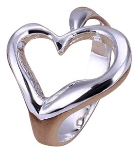 Other Size 8 Eight Sterling Silver Stamped Heart Ring