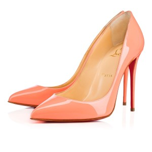 Christian Louboutin Pigalle Follies Flamingo Peach Stiletto Pink Pumps