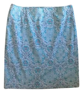 Lord & Taylor Skirt Green, White, Blue
