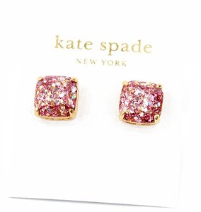 Kate Spade NEW Kate Spade New York Rose Gold Pink Glitter Studs Earrings-12k Gold