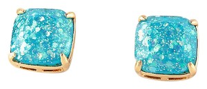 Kate Spade NEW Kate Spade New York Pale Blue Galaxy Glitter Studs Earrings 12k