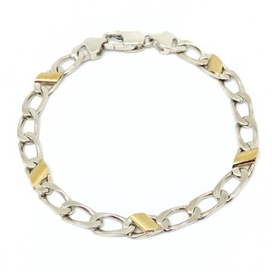 Tiffany & Co. Tiffany & Co. Silver and Gold Italian Curb Link Bracelet.