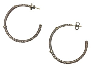 John Hardy sterling silver hoops with 18k gold accents