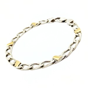 Tiffany Amp Co Silver And Gold Italian Curb Link Bracelet