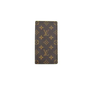 Louis Vuitton Monogram Canvas Leather Checkbook Cover Long Wallet
