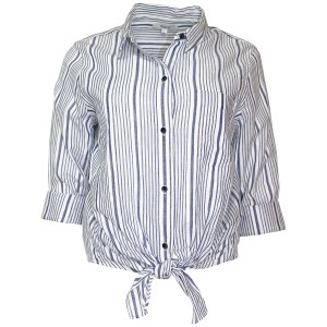Madewell Shirt Striped Cotton Navy White Button Down Shirt Starry Night