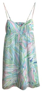 Lilly Pulitzer short dress Sky Blue Salute Dorothy Floral Party Silk on Tradesy