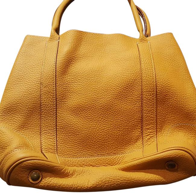 Item - 78082 Deep Mustard Yellow Tumbled Leather Shoulder Bag