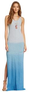 Cambridge Blue Nautical-Persimmon Maxi Dress by Other