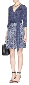 Diane von Furstenberg Jewel Dvf Wrap Batik Dress