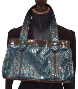Kate Landry Satchel in turquoise brown