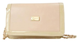 St. John Leather Patent Leather Tan Shoulder Bag