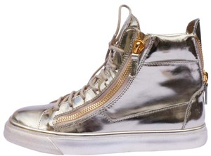 Giuseppe Zanotti Sneakers High Top Platform Gold Athletic