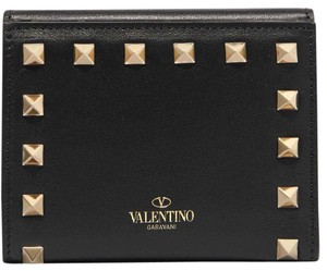 Valentino New Valentino Rockstud French Leather Wallet