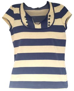 Topshop T Shirt Blue, Yellow, striped