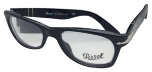 Persol New PERSOL Rx-able Eyeglasses 2975-V 95 51-18 140 Black Frame w/ Clear