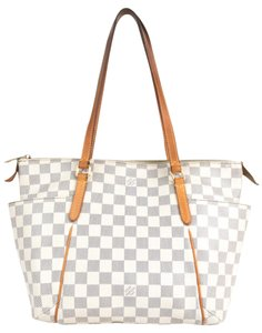 989b01870f28 Louis Vuitton Totally Pm Damier Azur Coated Canvas Tote - Tradesy