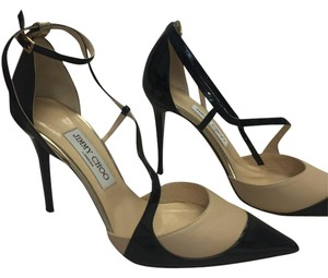 Jimmy Choo New Closed Toe Leather Ankle Strap Brand New black patent, gold metallic, nude Pumps