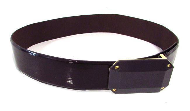 Item - Brown Patent Leather Belt