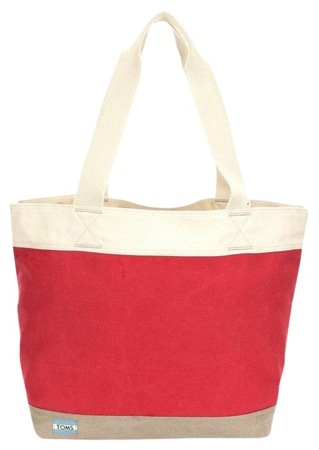 Item - Bag Transport Medium Red Canvas Tote
