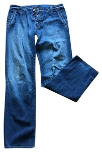 AG Jeans Adriano Goldschmied, 34/34 mens Straight Leg Jeans-Distressed