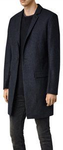 AllSaints Wool Leather Trench Coat